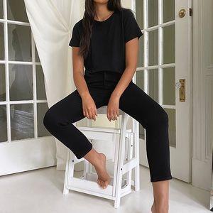 Aritzia Denim Forum Yoko High Rise Slim black 26
